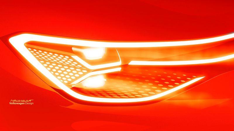 Volkswagen ID. ROOMZZ frontlykt teaser