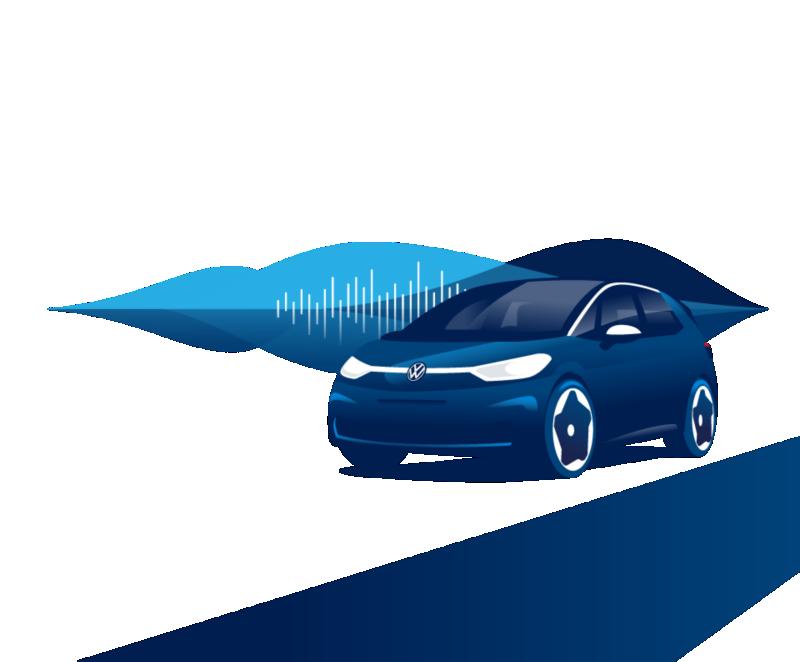 De Volkswagen ID.3 en de visuele weergave van een audiotrack
