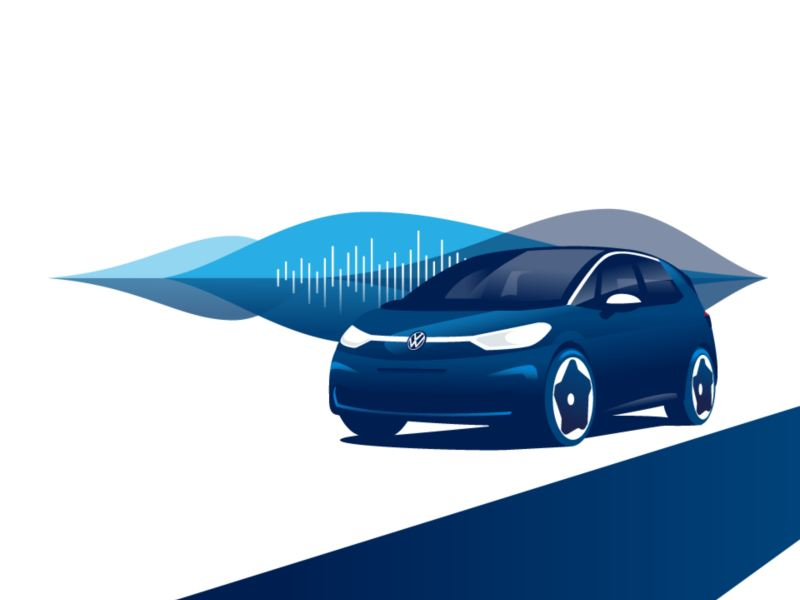 Der Volkswagen ID.3 und die Darstellung einer Audiospur