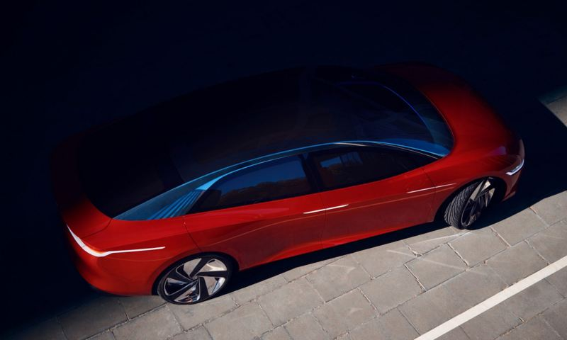 The vizzion concept car from Volkswagen