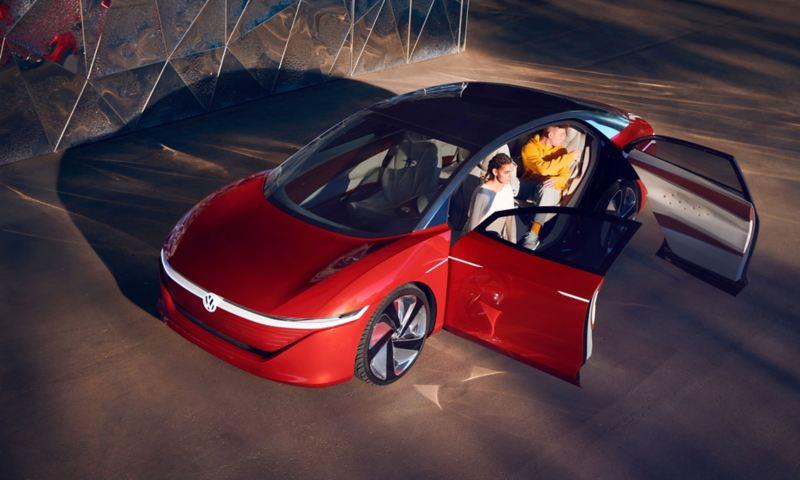Car with open doors