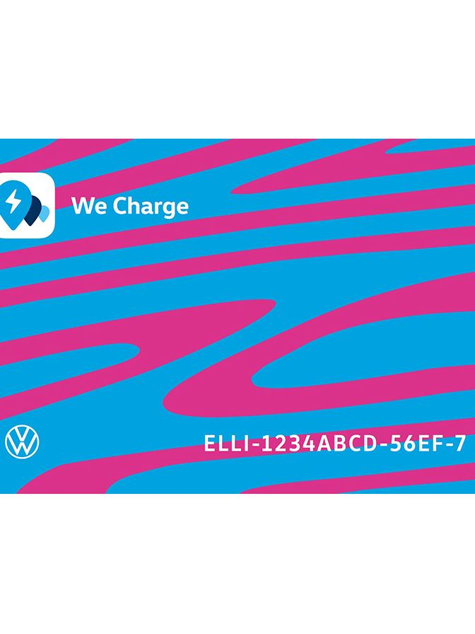 The ID.3-design charging card from We Charge