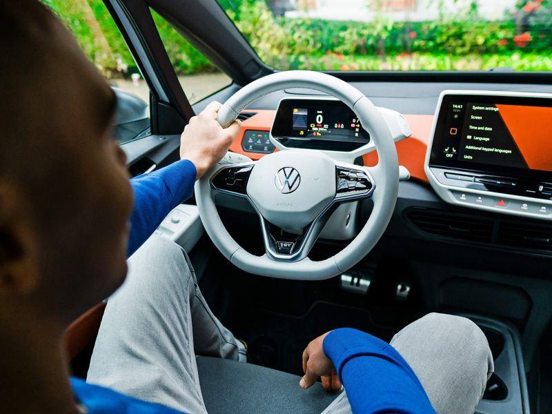 Man in the Volkswagen ID.3