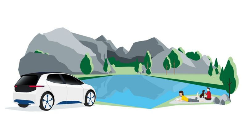 Nature, climate protection, electric vehicle, ID.3