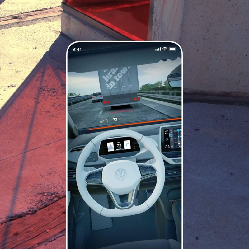 The EV Check App in augmented reality mode