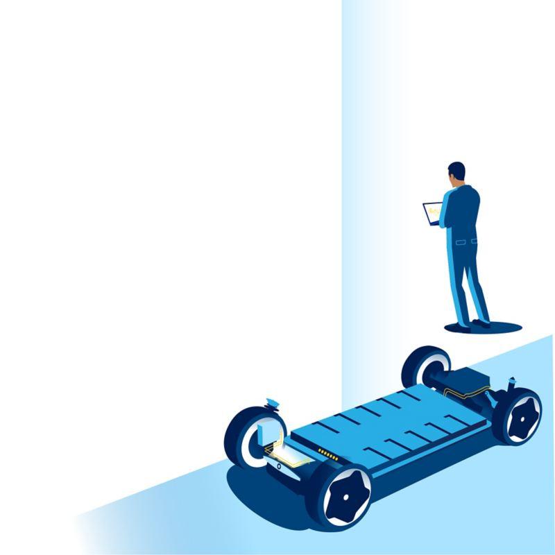 Technische Darstellung Fahrzeugbatterie