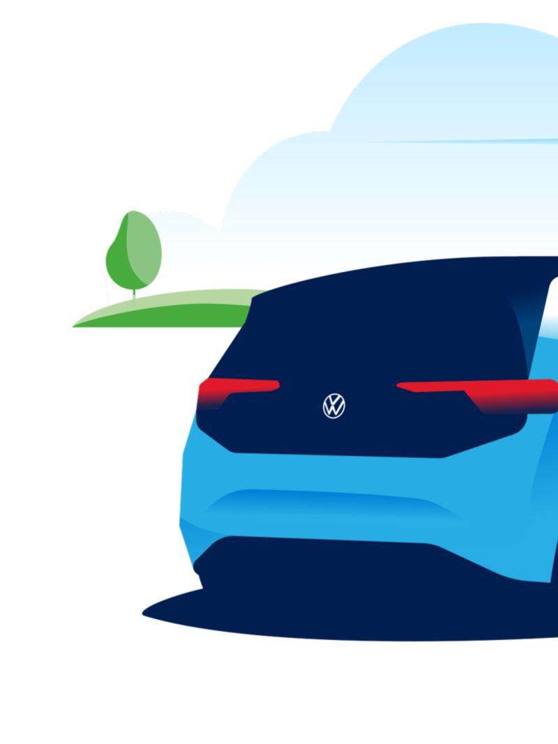 Una donna ricarica la sua auto elettrica