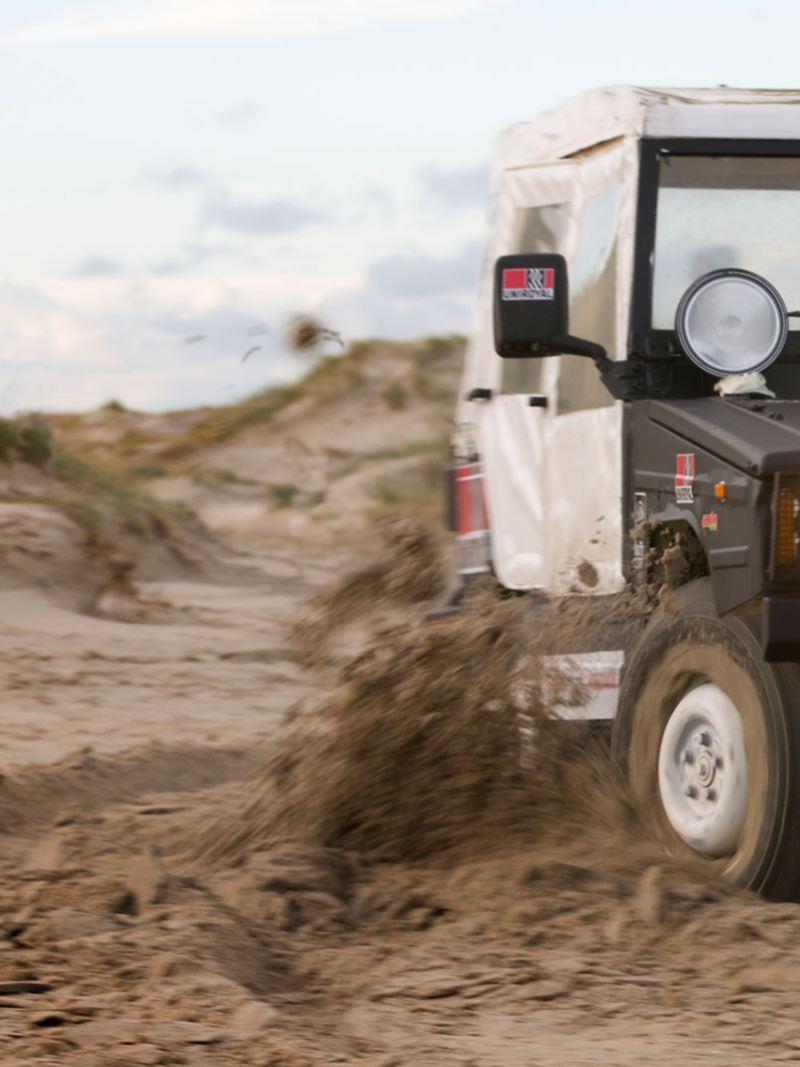 Fyrhjulsdrift i sand med Iltis
