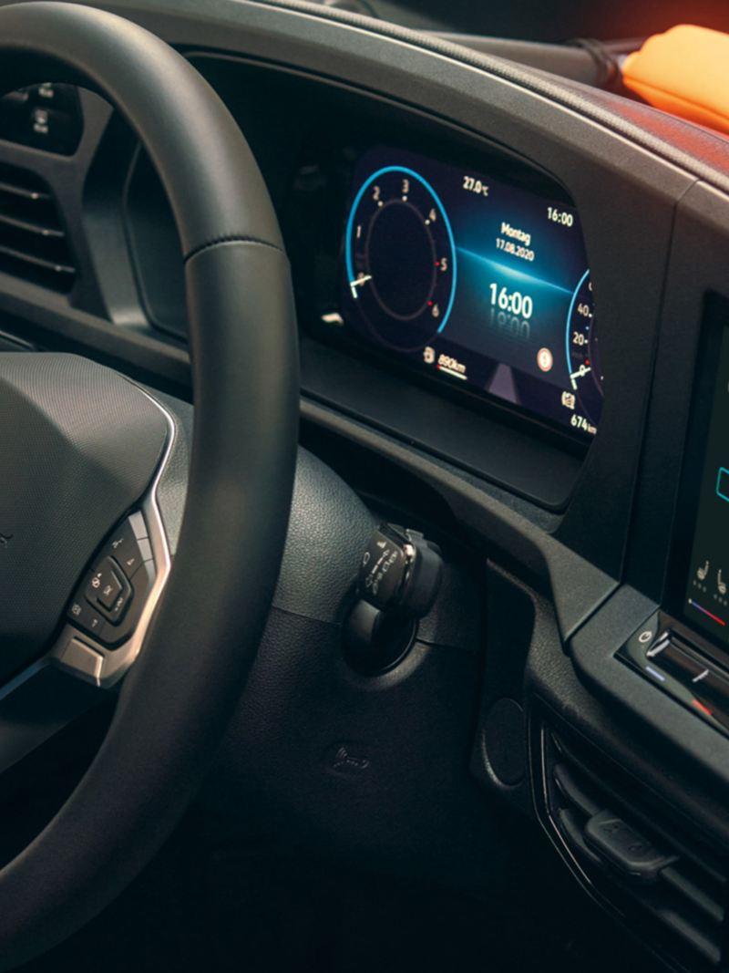 De Innovision Cockpit in de nieuwe Volkswagen Caddy Cargo.