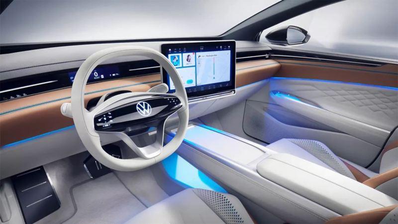 Digital Cockpit de la Volkswagen ID. SPACE VIZZION.