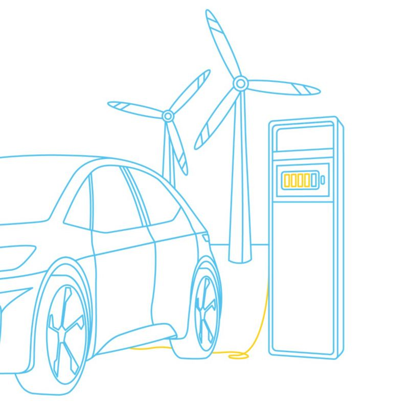 Illustration ID.3 charging with green power
