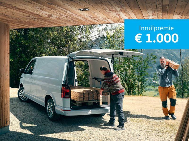 € 1000 inruilpremie van de Transporter 6-1