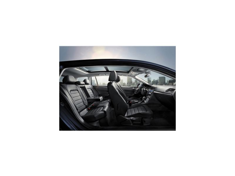 L'intérieur d'une Volkswagen