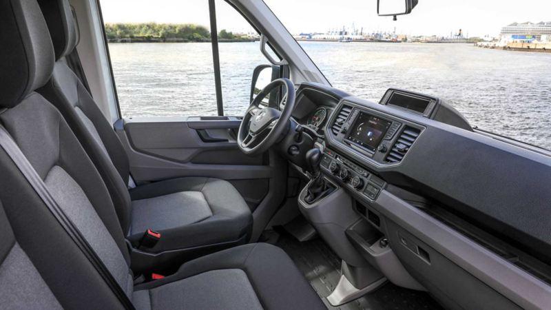 vw Volkswagen e-Crafter el varebil elektrisk varebil elbil elvarebil miljøvennlig grønn budbil bud interiør standardutstyr