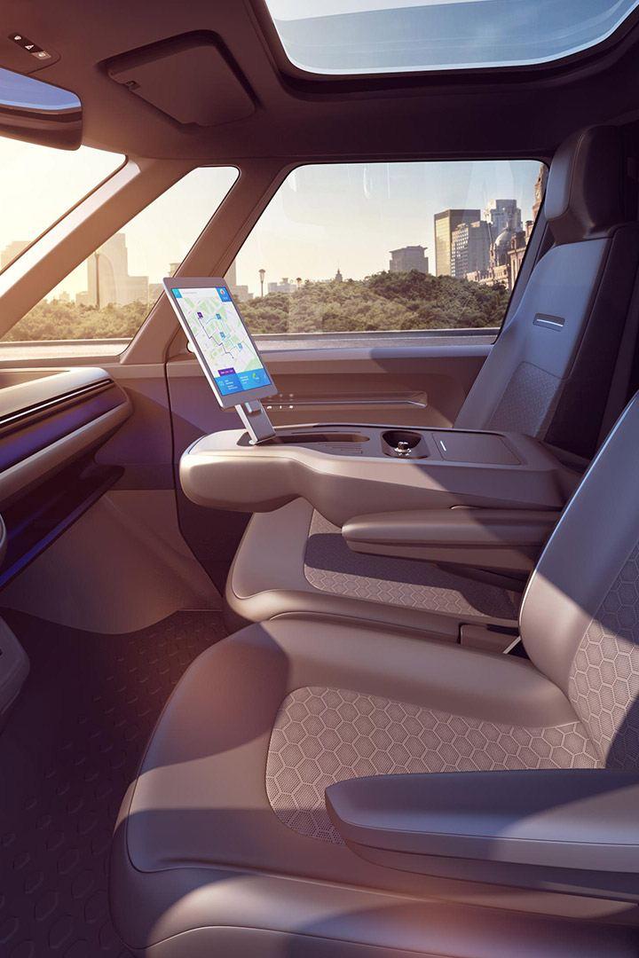 vw Volkswagen id buzz cargo elektrisk varebil elbil elvarebil el varebil interiør førerhus