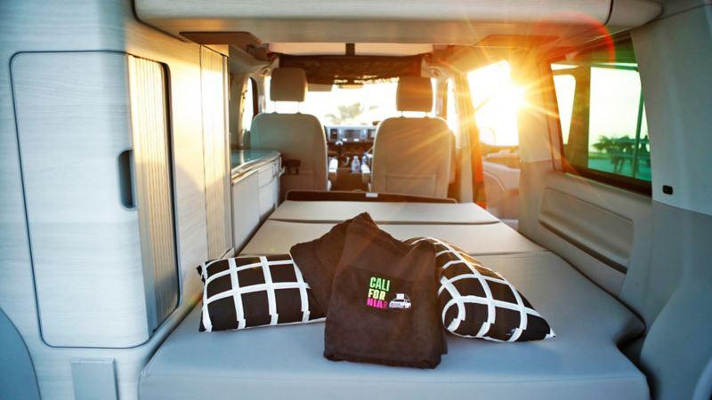 Varmt och ombonat inne i Volkswagen California
