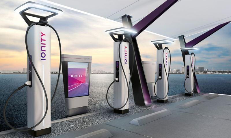 Stazione di ricarica IONITY per auto elettriche