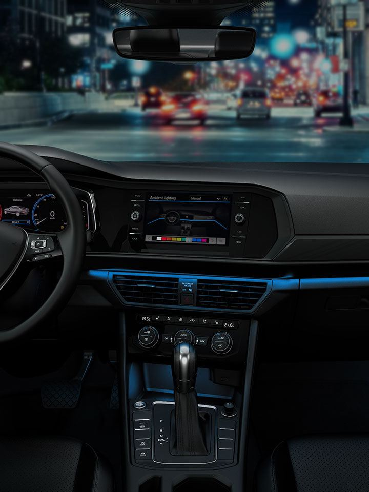 Light blue ambient color in the Jetta
