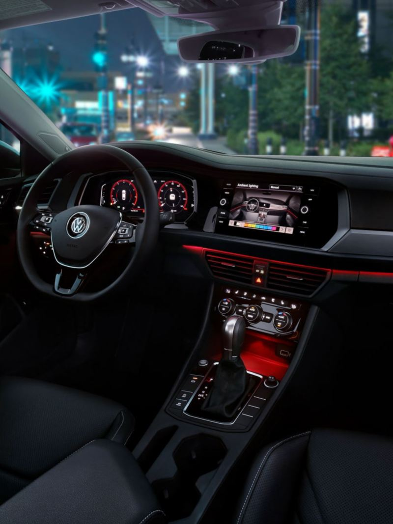 Ambient lighting inside the Jetta