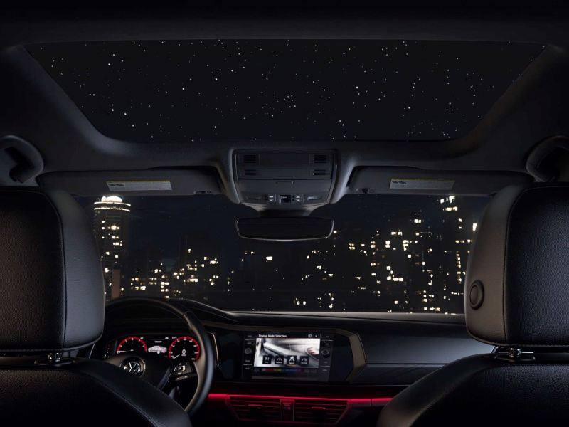 Enjoy the skylight inside the Jetta