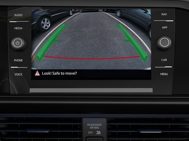 rearview camera in action in the Jetta GLI