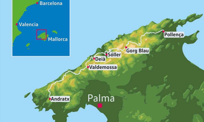 Karte von Mallorca