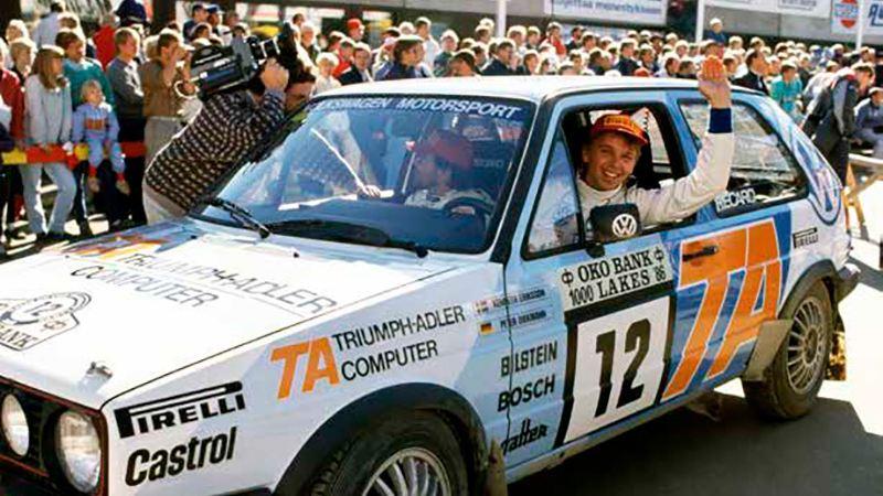 Kenneth Erikssons första klasseger i finska VW-rallyt 1986.