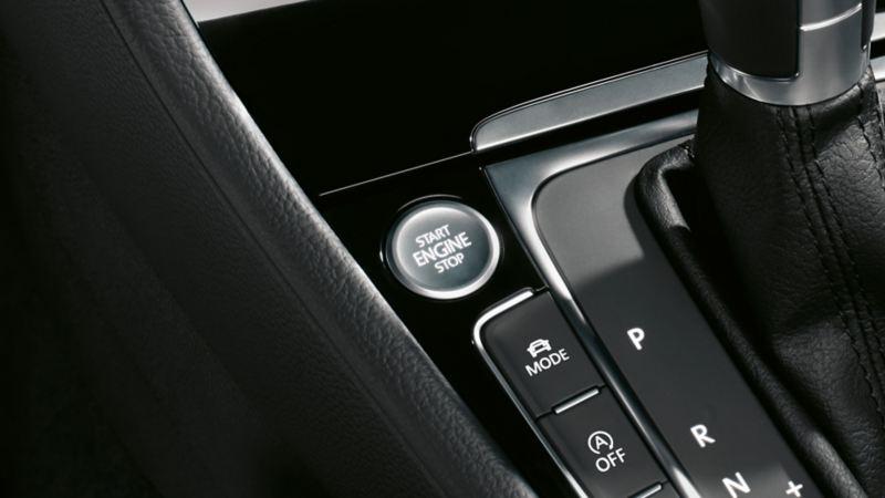 Visualizzazione del Keyless Access sulla consolle centrale di VW Golf