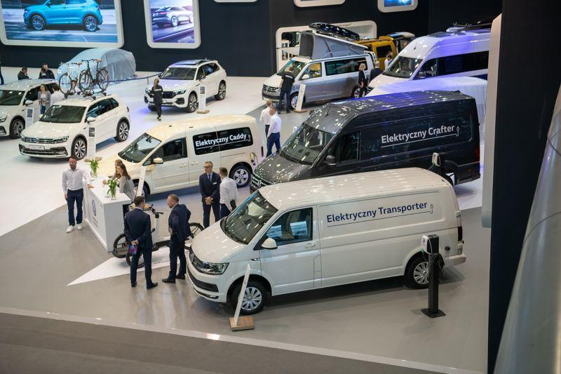 Cała gama elektrycznych Volkswagenów na stoisku podczas targów Motor Show 2019