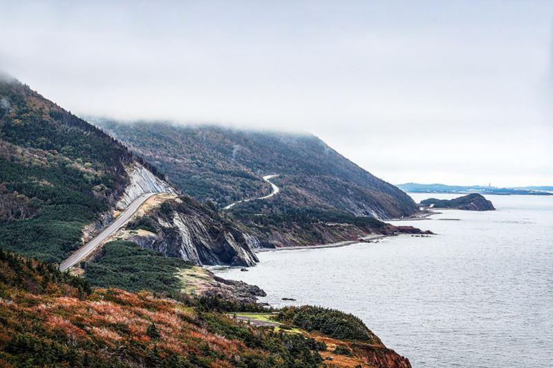 Kustlandskap i Nova Scotia