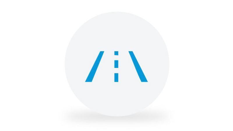 """Ein Piktogramm symbolisiert die Funktion des Spurhalteassistenten """"Lane Assist""""."""