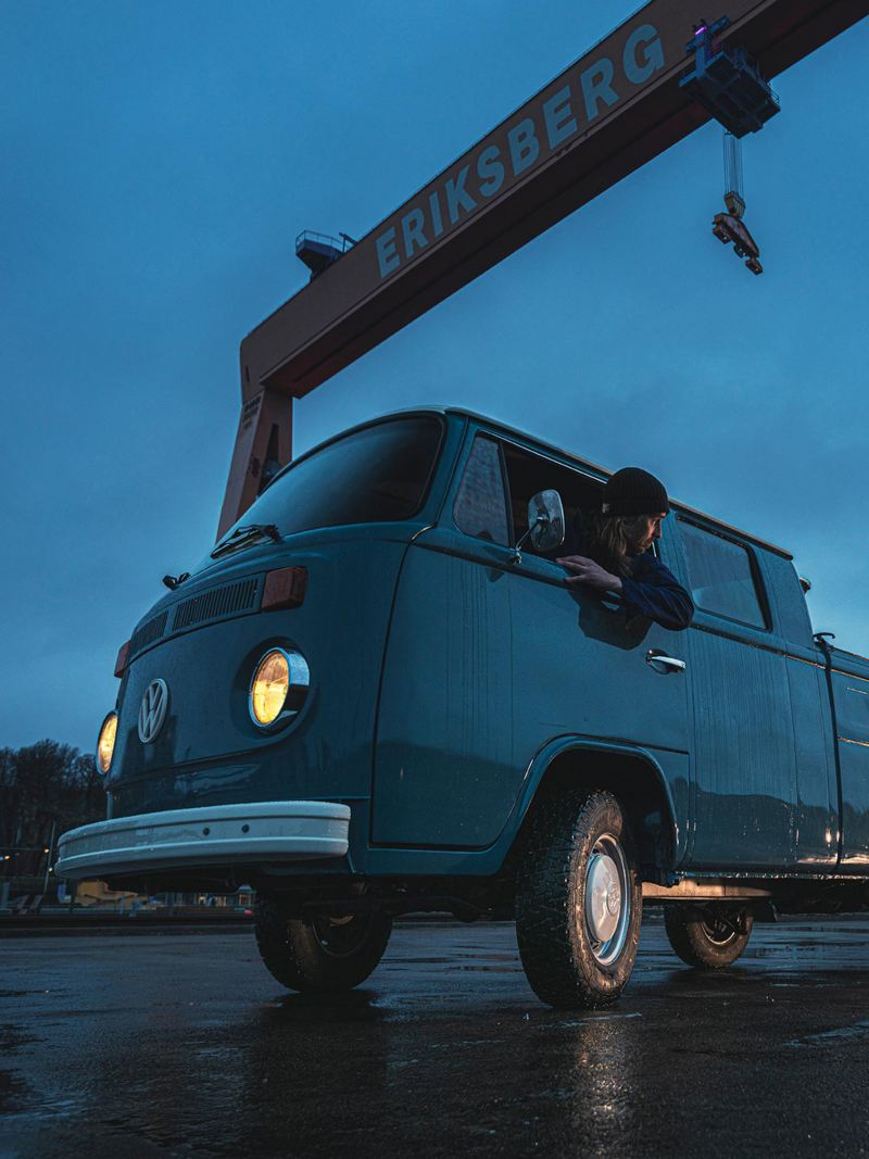 Lastning av VW pickup Göteborgs varv