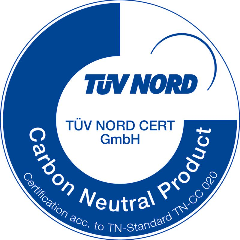 TÜV NORD Certificate: Climate-neutral product
