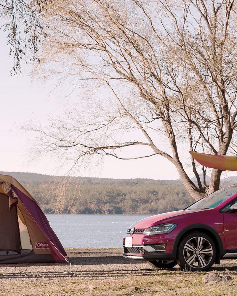 キャンプを楽しむ。