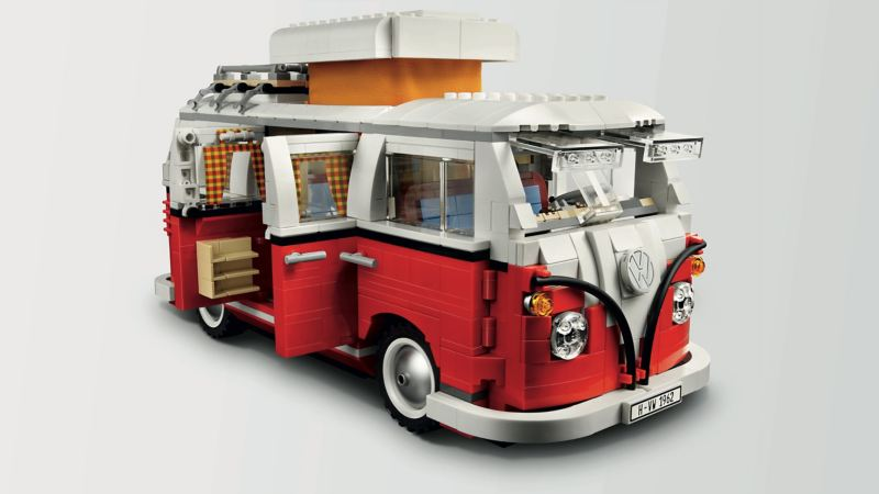 Ein VW Bus aus Lego.