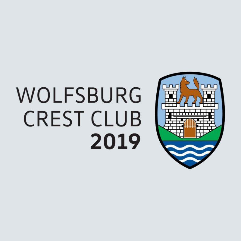 a logo of Wolfsburg crest club
