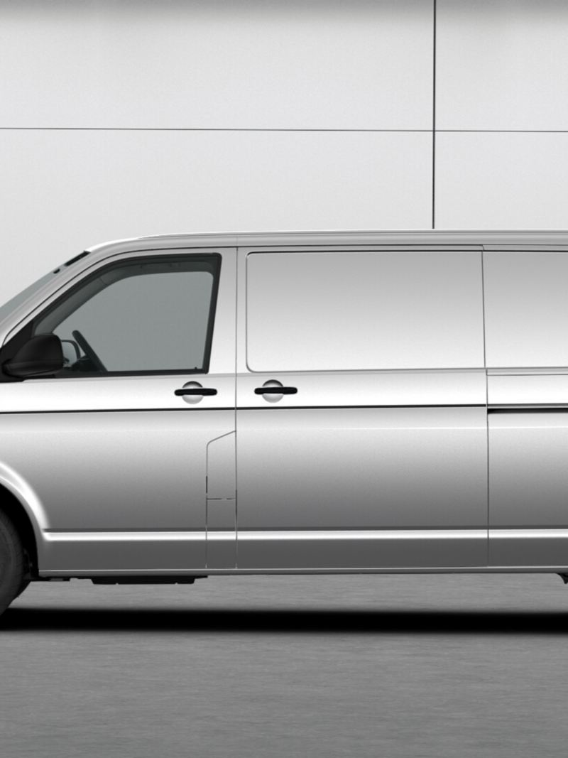 side view of the transporter panel van