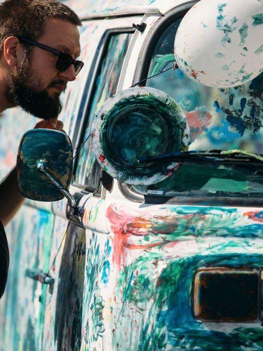 Volkswagen Utilitaires Combi Summer festival 70 ans peinture
