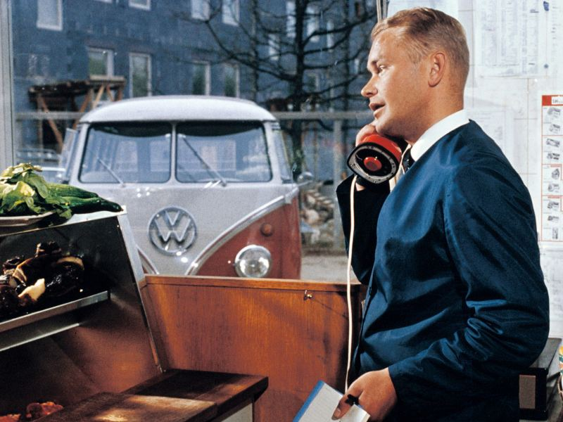Hemleverans med Transporter 1965.