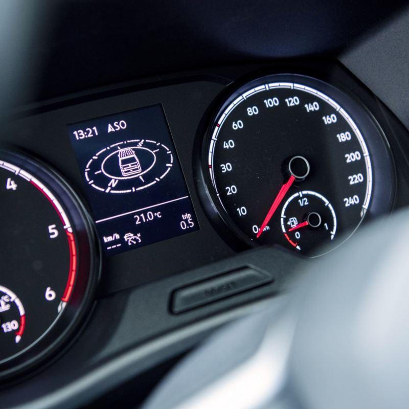 Vista detalhada das guarnições da Transporter 6.1. Veículos Comerciais Volkswagen.