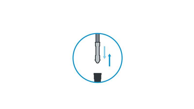 Prawidłowy pomiar poziomu oleju 5.