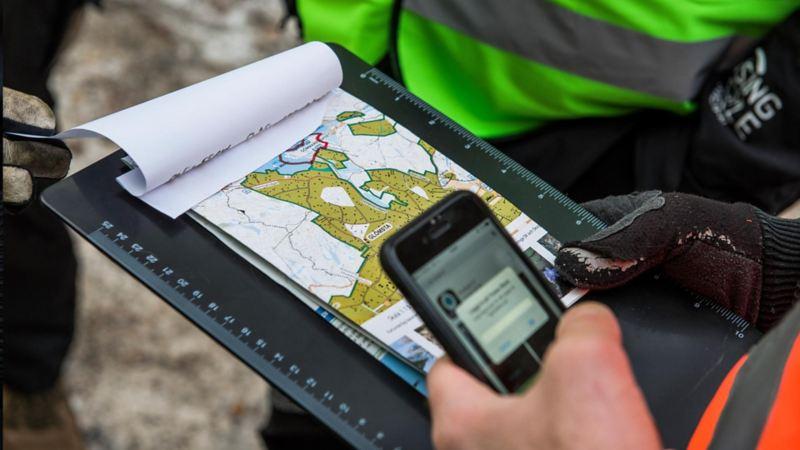 Kartappen Cartesia underlättar för sambandscentralen att se vilka områden som är avsökta.