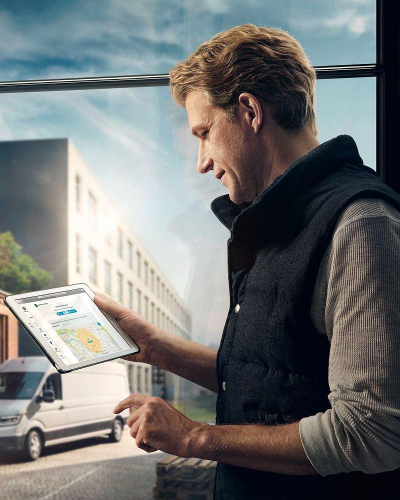Das We Connect Portal lässt sich auch auf dem Tablet besuchen.