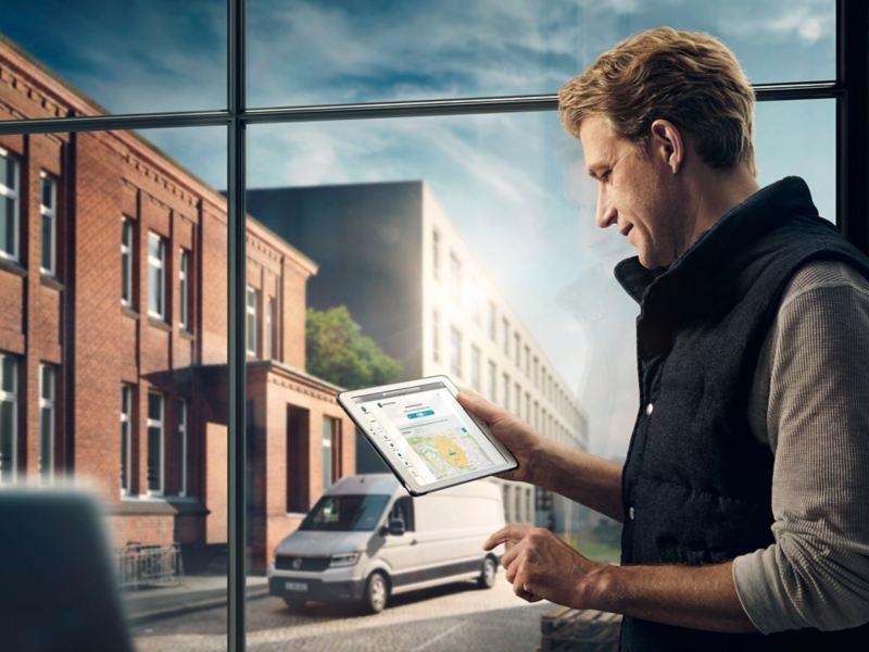 Le Portail We Connect peut également être consulté via une tablette.