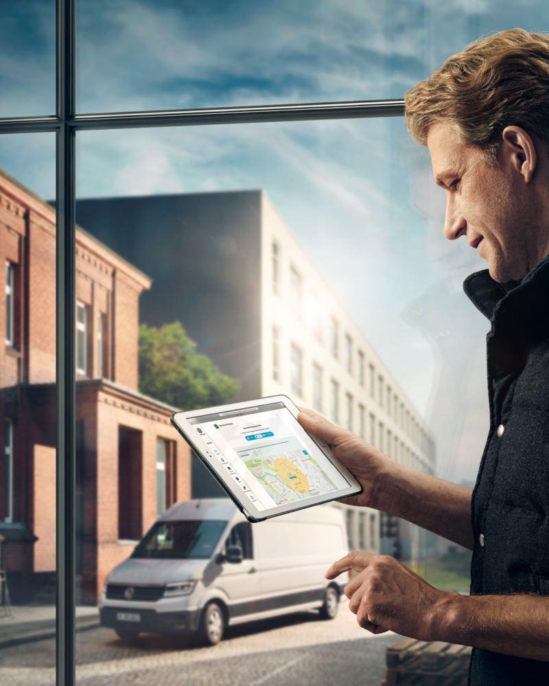 Le Portail We Connect peut aussi être visualisé sur une tablette.