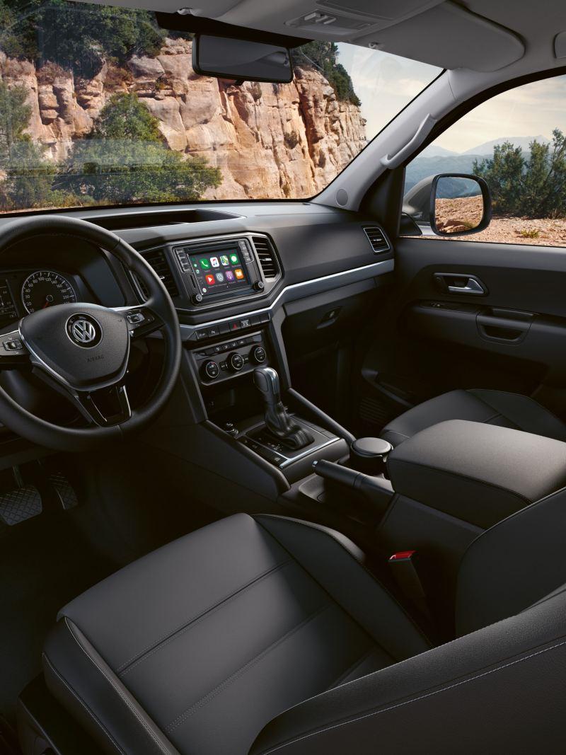Förarplatsen i VW Amarok pickup