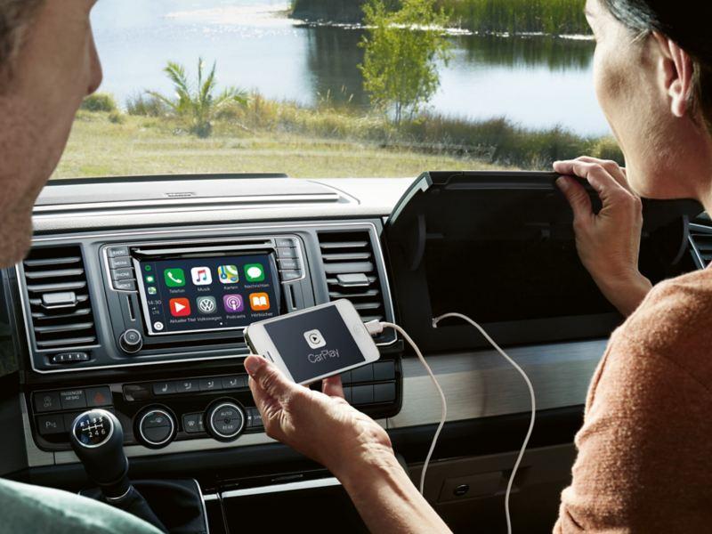 Spegla telefonen till navigationssystemet