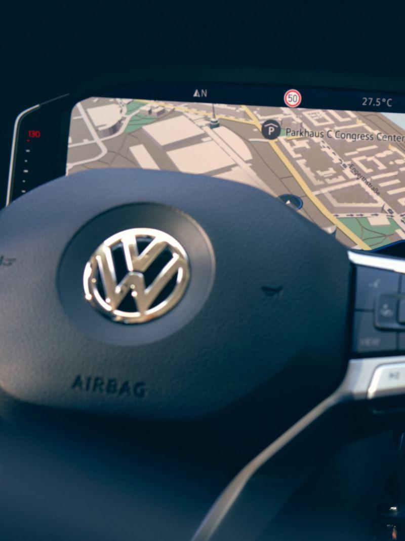 Kartvisning i den digitala mätartavlan i Multivan 6.1