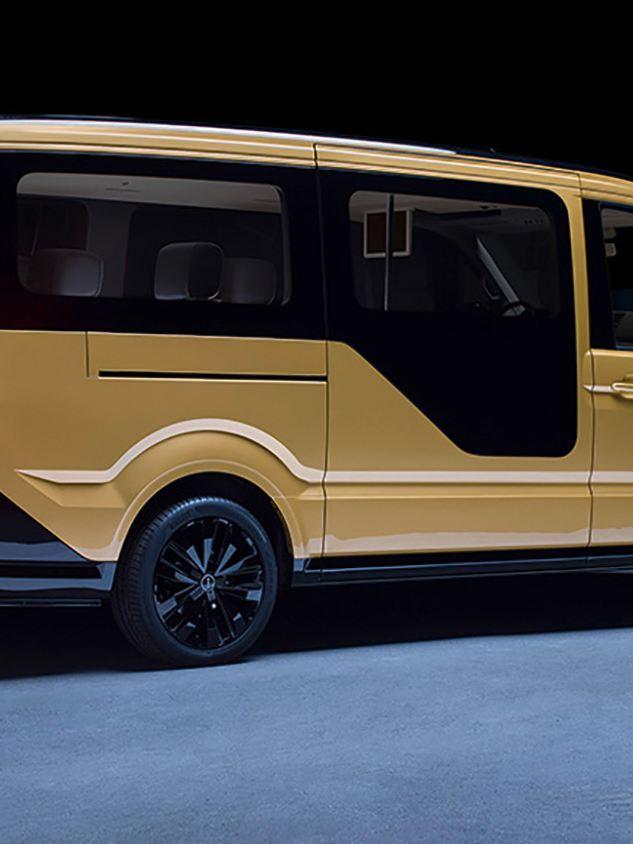 Volkswagen MOIA, eldriven samåkningsbuss, exteriör