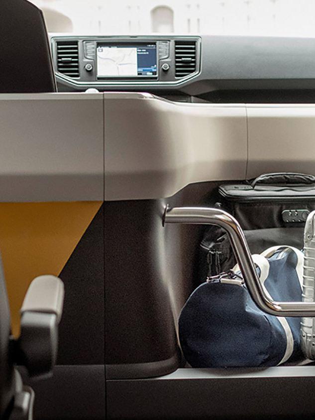 Volkswagen MOIA, eldriven samåkningsbuss, förvaringsutrymme